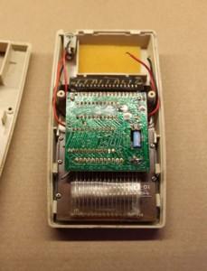 Simple circuit board, coarse soldering, cat hair.
