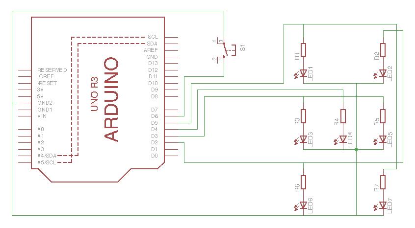 Arduino Dice Schematic