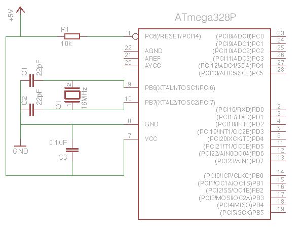Minimal Arduino circuit