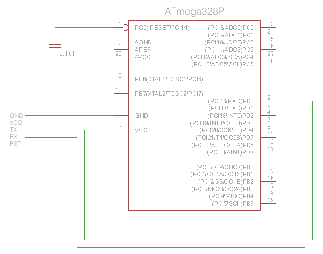 ATmega328 FTDI Connections