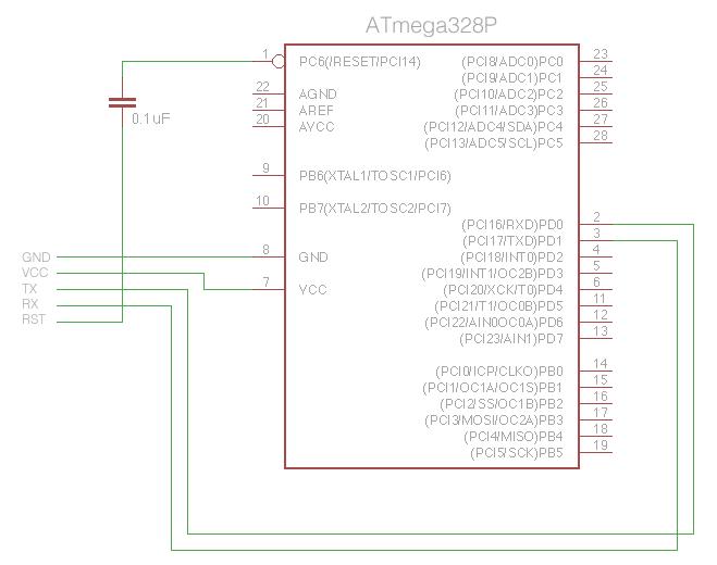 ATmega328 FTDI Connections