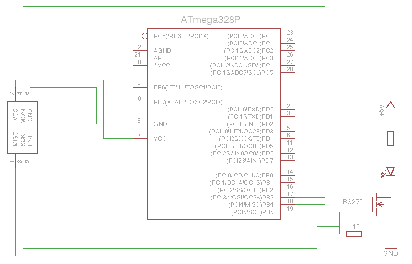 ATmega328 ICSP Connections