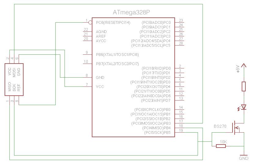 ATmega328 ICSP Connections